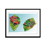 Leaf Frogs Framed Panel Print