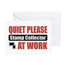 Stamp Collector Work Greeting Card