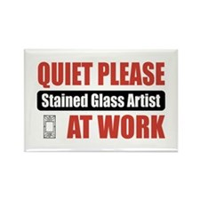 Stained Glass Artist Work Rectangle Magnet (10 pac
