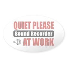 Sound Recorder Work Oval Decal