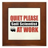 Soil Scientist Work Framed Tile