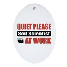 Soil Scientist Work Oval Ornament