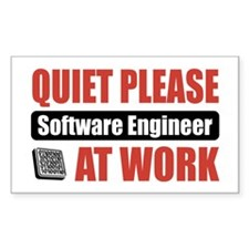 Software Engineer Work Rectangle Decal