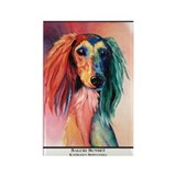 Saluki Sunset Painting Design Rectangle Magnet