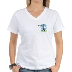 """We'll always have Paris"" Women's V-Neck T-Shirt"