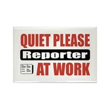 Reporter Work Rectangle Magnet (100 pack)