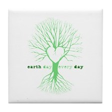 Cute Mother earth Tile Coaster