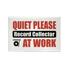 Record Collector Work Rectangle Magnet
