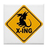 Dragon X-ing Tile Coaster