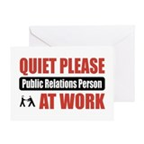 Public Relations Person Work Greeting Card