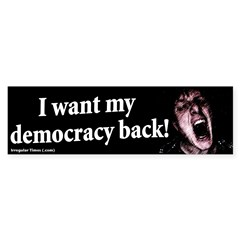 Democracy Back Bumper Sticker