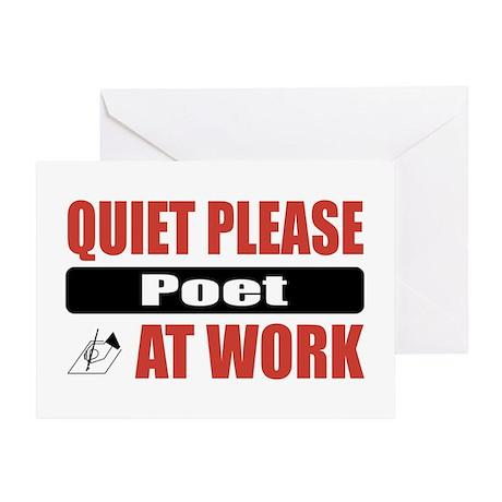 Poet Work Greeting Card