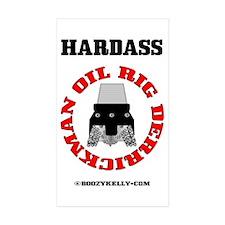 Oil Rig Derrickman Rectangle Sticker 50 pk)