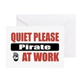 Pirate Work Greeting Card