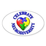 Autism Awareness Oval Sticker (50 pk)