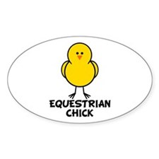 Equestrian Chick Oval Decal