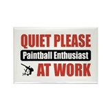 Paintball Enthusiast Work Rectangle Magnet (10 pac