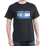 Israel Israeli Flag Black T-Shirt