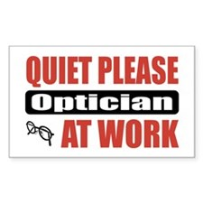 Optician Work Rectangle Sticker 50 pk)