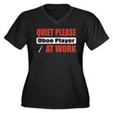 Oboe Player Work Women's Plus Size V-Neck Dark T-S