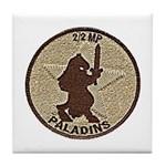 2/2 Military Police Paladins Tile Coaster