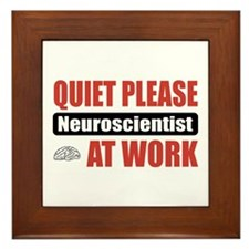 Neuroscientist Work Framed Tile