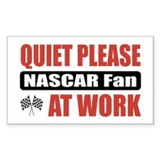 NASCAR Fan Work Rectangle Decal