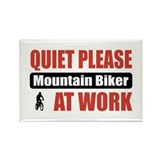 Mountain Biker Work Rectangle Magnet