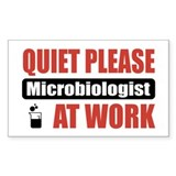 Microbiologist Work Rectangle Sticker 10 pk)