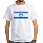 Israel Jewish Flag White T-Shirt
