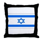 Israel Jewish Flag Throw Pillow