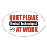 Medical Technologist Work Oval Decal