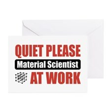 Material Scientist Work Greeting Cards (Pk of 20)