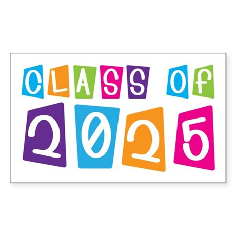 Colorful Class Of 2025 Rectangle Sticker 10 pk)