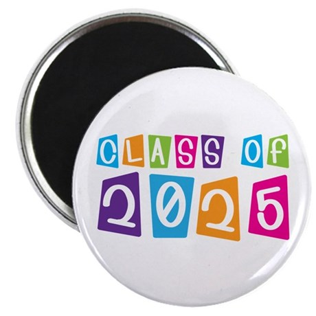 Colorful Class Of 2025 Magnet