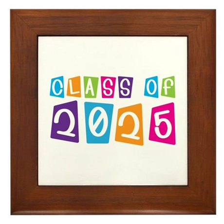 Colorful Class Of 2025 Framed Tile