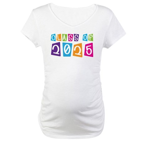 Colorful Class Of 2025 Maternity T-Shirt