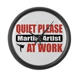 Martial Artist Work Large Wall Clock
