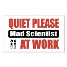 Mad Scientist Work Rectangle Sticker 10 pk)