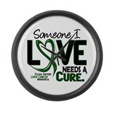 Needs A Cure 2 LIVER CANCER Large Wall Clock