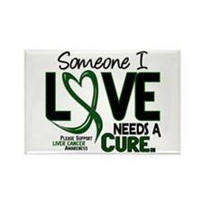 Needs A Cure 2 LIVER CANCER Rectangle Magnet (100