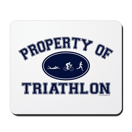 Property of Triathlon Icons Mousepad