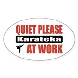 Karateka Work Oval Decal