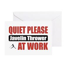 Javelin Thrower Work Greeting Card