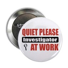 "Investigator Work 2.25"" Button (100 pack)"