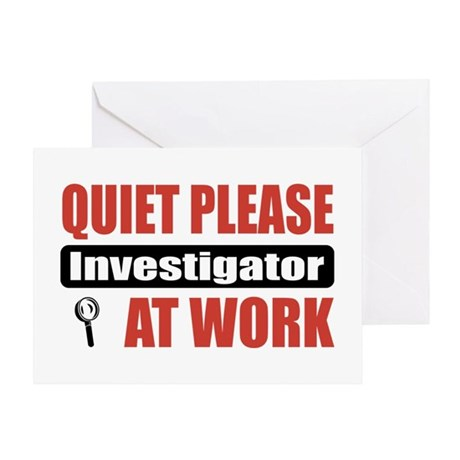 Investigator Work Greeting Card