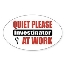 Investigator Work Oval Sticker (10 pk)