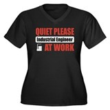 Industrial Engineer Work Women's Plus Size V-Neck