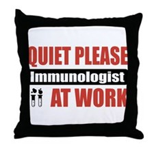 Immunologist Work Throw Pillow