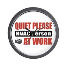HVAC Person Work Wall Clock